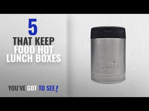 Best That Keep Food Hot Lunch Boxes [2018]: LunchBots Thermal 12 oz. All Stainless Steel Interior -
