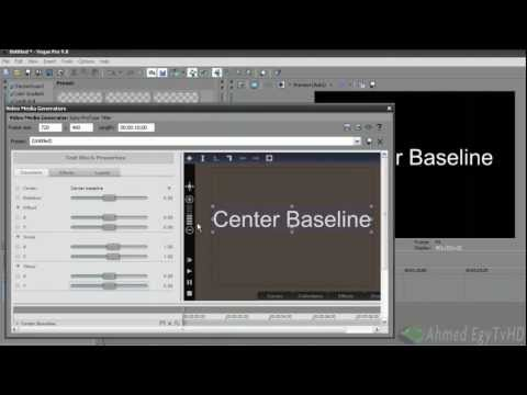 How to type arabic in Sony Vegas Pro 9  - Tutorial