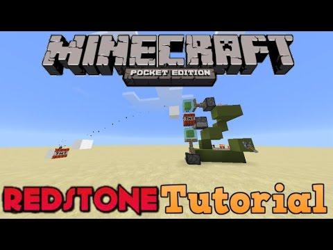 RapidFire SlimeBlock Tnt Cannon!!-Minecraft PE Redstone Tutorial