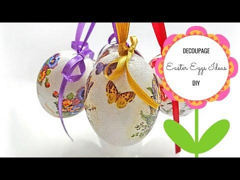 DIY - Easter Egg Ideas - Decoupage