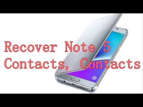 How to Recover Lost Contacts Messages on Samsung Note 5?