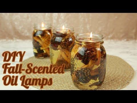 DIY Fall-Scented Oil Lamps