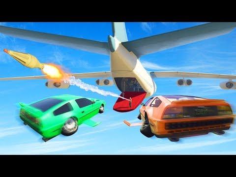 ATTACK THE MASSIVE PLANE! (GTA 5 Heists)