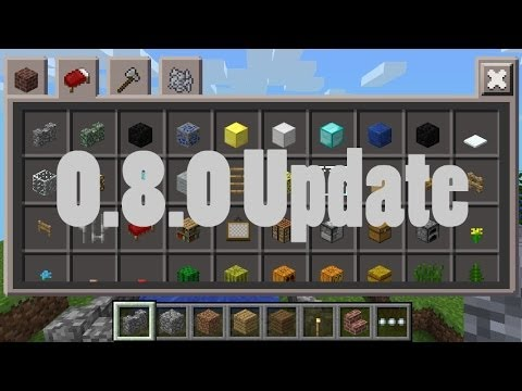 MCPE 0.8.0 Update New Inventory