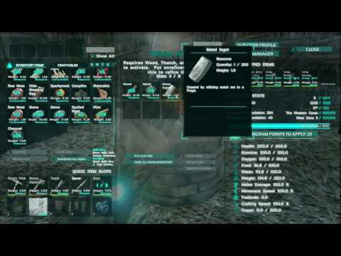 How to get Metal Ingots - ARK Survival Evolved