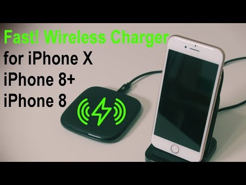 FAST Wireless Charger for your iPhone X, iPhone 8/8 Plus (by RAVPower)