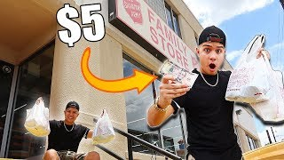 I LIVED OFF OF $5 A DAY! (IMPOSSIBLE OUTFIT CHALLENGE)