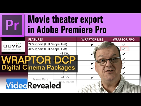 Movie theater export to DCP in Adobe Premiere Pro