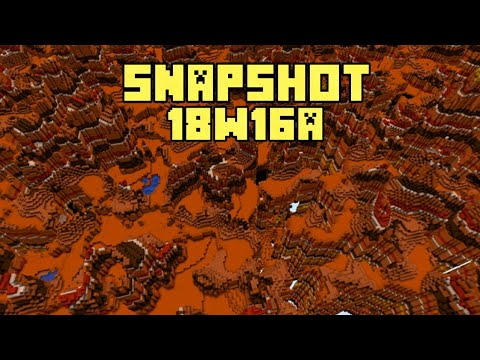 New Minecraft 1.13 Snapshot 18w16a New Custom World Generation / Buffet