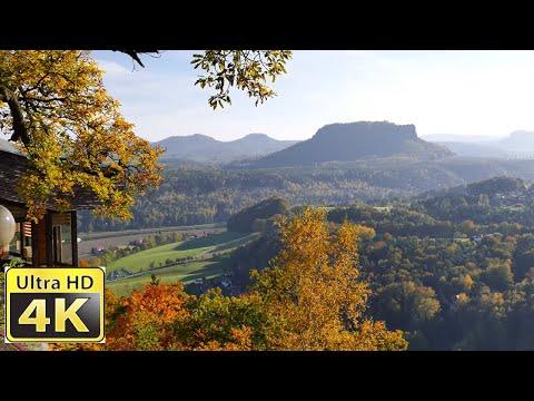 Sächsische Schweiz Bastei - Nationalpark / amazing 4k video ultra hd