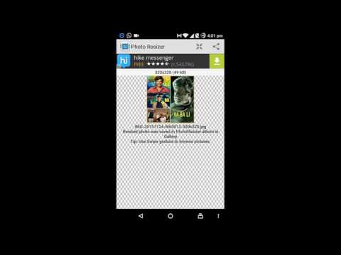 How to Resize an image on Android smartphone