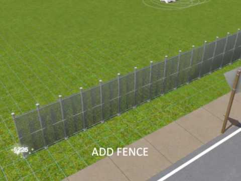 SIMS 3:PROTECTION FENCE