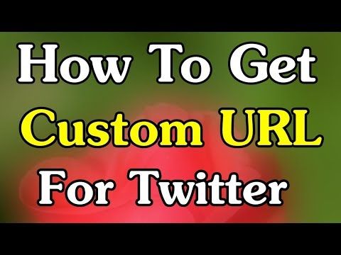 How To Get Custom URL For Twitter | By App Tech Master