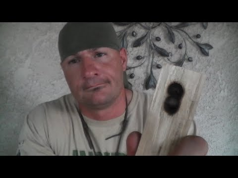 (Bow Drill) Producing an Ember Using the 2 Hole Method