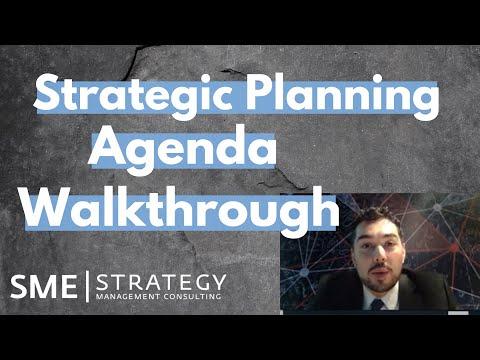 Strategic Planning Agenda Walkthrough- SME Strategy