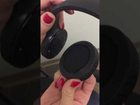 Reattaching ear pads for JAM Transit Lite Wireless Bluetooth Headphones HX-HP400GY