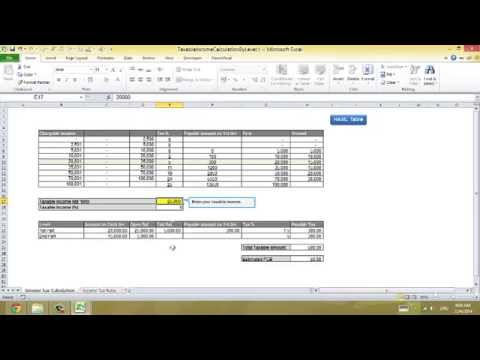 Excel Tip 0414 2 Calculate Estimated PCB Submit Tax Return Malaysia