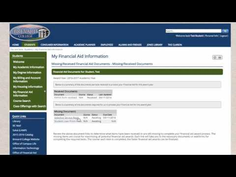 How to Accept Financial Aid Awards on MyBrevard