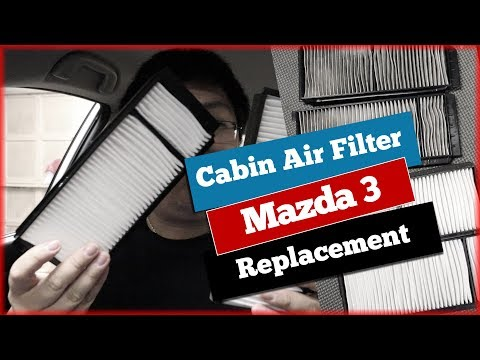 Mazda 3 Cabin Air Filter Change Replacement without Glovebox Removal