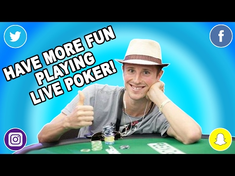 Wanna Have More Fun Playing Poker Tournaments? DO THIS!!!