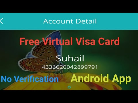 How to get free Virtual Visa card on mobile without any verification