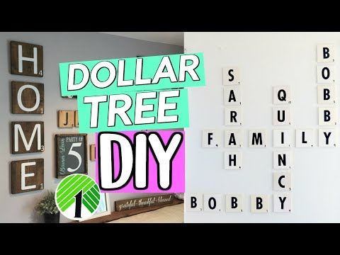 DOLLAR TREE DIY: FAMILY SCRABBLE WALL ART! RUSTIC DOLLAR STOREGALLERY WALL| SENSATIONALFINDS