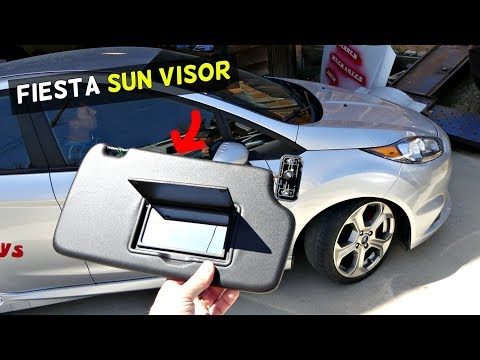 FORD FIESTA SUN VISOR REMOVAL REPLACEMENT ST MK7