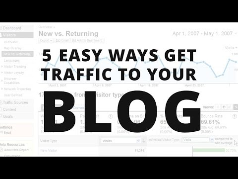 5 Best Way To Get Traffic To Your Blog 2017