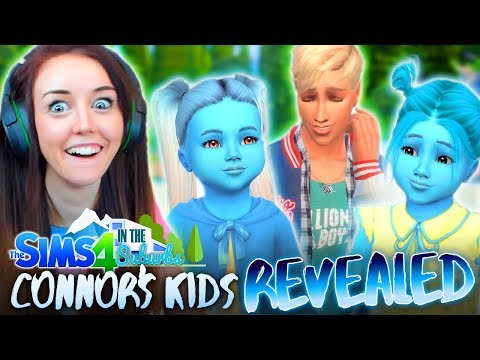 CONNOR HAS A SMURF FAMILY!? 😂😂 (The Sims 4 IN THE SUBURBS #15! 🏘)