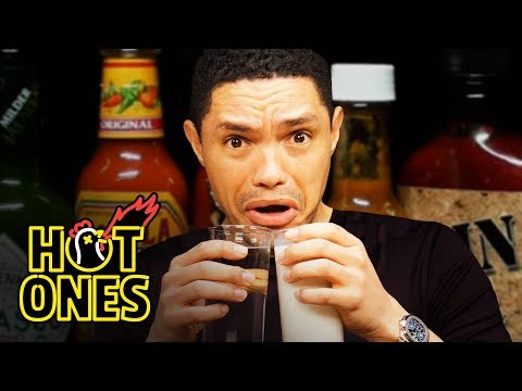 Xxx Mp4 Trevor Noah Rides A Pain Rollercoaster While Eating Spicy Wings Hot Ones 3gp Sex