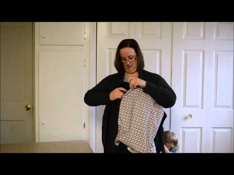 Using a baby carrier slip cover