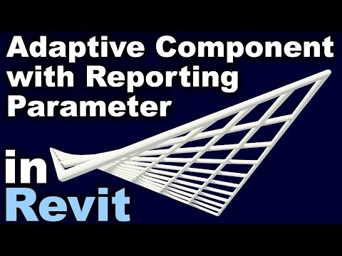 Adaptive Component and Reporting Parameter in Revit tutorial