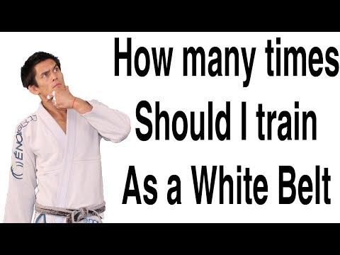 How Many Times per Week should I Train as a White Belt