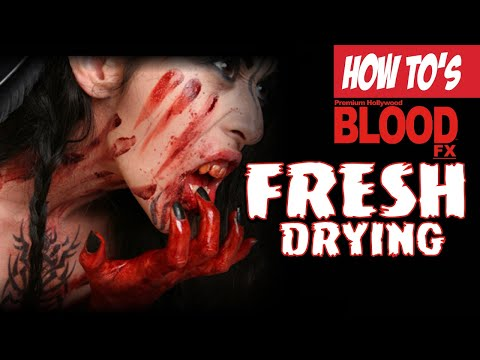 Tinsley Transfers - Blood FX  - Drying Blood application