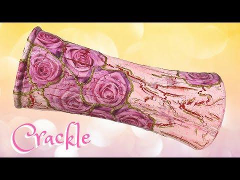 Easy DIY Crackle Vase | Decoupage | Shabby Chic