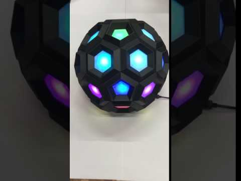 truncated icosahedron with LED