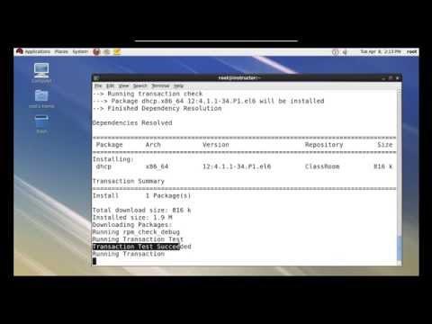 dhcp server configuration in rhel 6