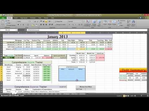How to Make a Budget in Excel - Aux. 2
