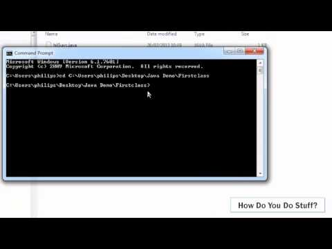 Write a simple JAVA program in Notepad and compile with javac