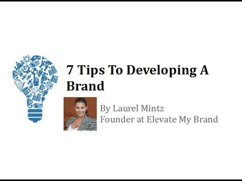 How To Develop A Brand with Laurel Mintz MLVC Preview