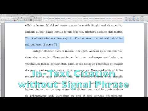 Citation Basics - Episode 5: MLA Style with a little bit of Endnotes