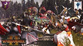 Morathi and the Dark Elves vs  Wood Elves - Steel Faith Over