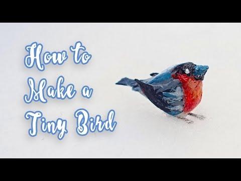 How to Make a Tiny Bird | DIY Christmas Holiday Decor Crafts