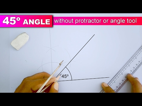 Learn to draw 45 degree angle without protractor or angle tool