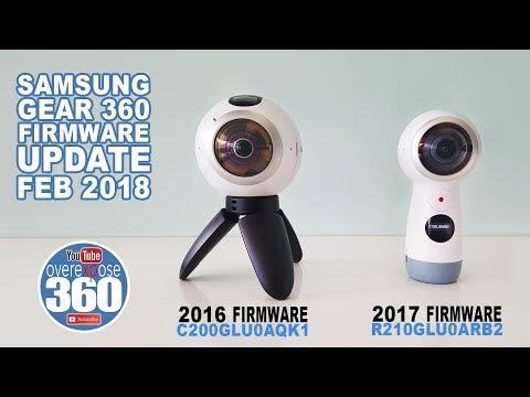 Gear 360 2016 and 2017 - Firmware Update -  Feb 2018