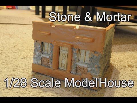 DIY 1/28 Scale Miniature Stone House Build