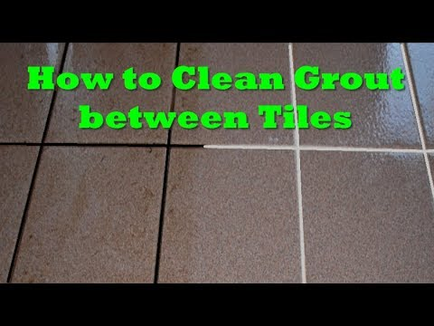 Cleaning Tip: How to Clean Tile Grout - Easy, best way , naturally, no chemicals