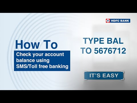 How to check your account balance using SMS Banking / Toll Free MobileBanking
