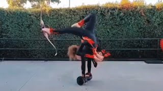 Woman Shoots Target With Arrow Whilst On Hoverboard | People Are Awesome | Best Of The Week