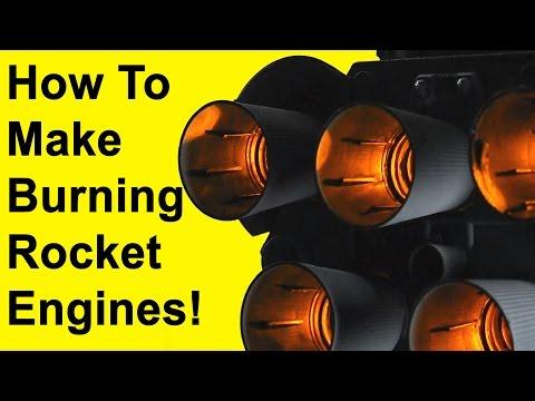 How to Make Burning Rocket Engines (DIY)